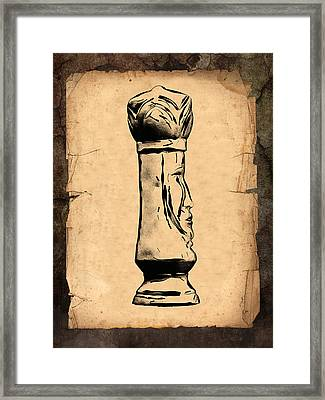 Chess King Framed Print by Tom Mc Nemar