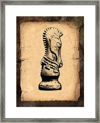 Chess Knight Framed Print by Tom Mc Nemar