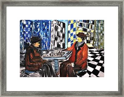 Chess Mania Framed Print