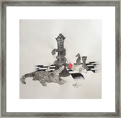 Chess Mate  Framed Print by Astrid Owens