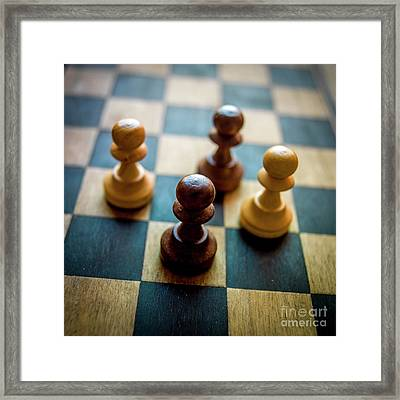 Chess Piece Framed Print by Bernard Jaubert