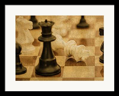 Chess Queen Mixed Media Framed Prints