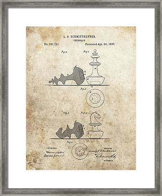 Chess Pieces Patent Framed Print by Dan Sproul