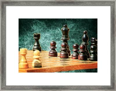 Chess Pieces Framed Print by Steve McKinzie