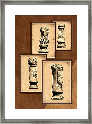 Chess Pieces Framed Print by Tom Mc Nemar