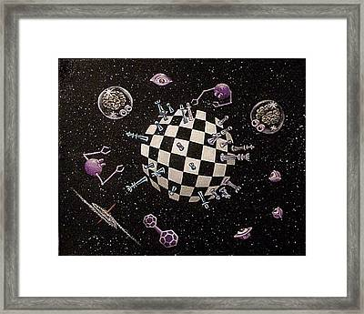 Chess Planet Framed Print by Hank Roll