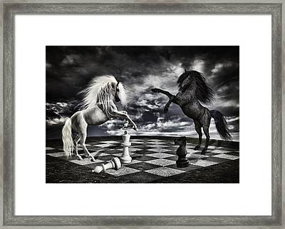 Chess Players Framed Print by Mihaela Pater