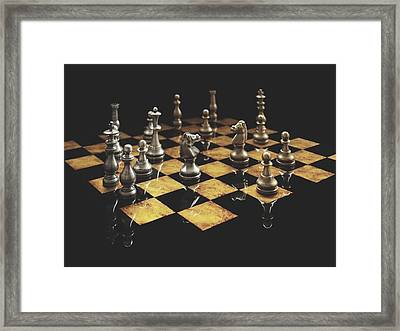 Chess The Art Game Framed Print