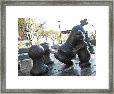 Chessmen Framed Print by Ariadne Sandbeck