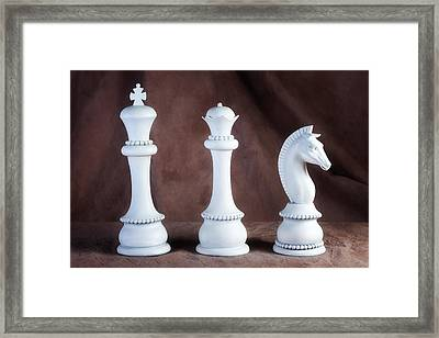 Chessmen V Framed Print by Tom Mc Nemar