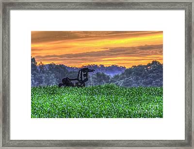 Waist High Corn The Iron Horse Collection Art Framed Print