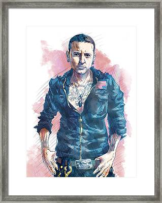Chester Bennington Of Linkin Park Framed Print