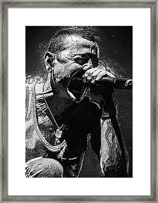 Chester Bennington Framed Print