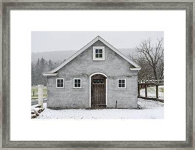 Chester County In The Snow Framed Print