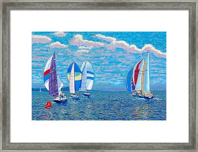 Chester Race Week 2009 Framed Print by Rae  Smith PSC