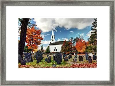 Chester Village Cemetery In Autumn Framed Print
