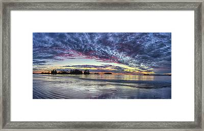 Chesterman Beach Sunset Panorama Framed Print by Mark Kiver