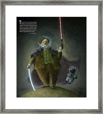 Chesterton In Space Framed Print by Theodore Schluenderfritz