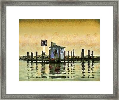 Chestertown Gas Dock Framed Print