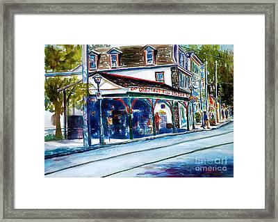 Chestnut Hill Station Framed Print by Joyce A Guariglia