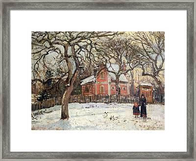 Chestnut Trees At Louveciennes Framed Print by Camille Pissarro