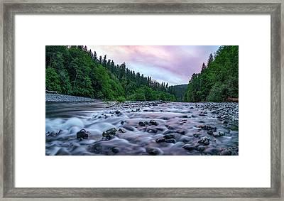 Chetco River Sunset 2 Framed Print by Leland D Howard