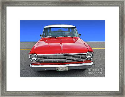 Framed Print featuring the photograph Chev Wagon by Bill Thomson