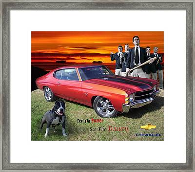 Chevelle Ad Framed Print by Ryan Flanagan