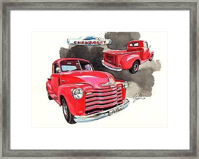 Chevrolet 3100 Pick Up Framed Print