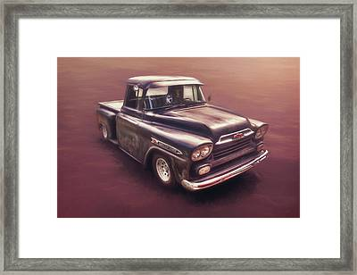Chevrolet Apache Pickup Framed Print by Scott Norris