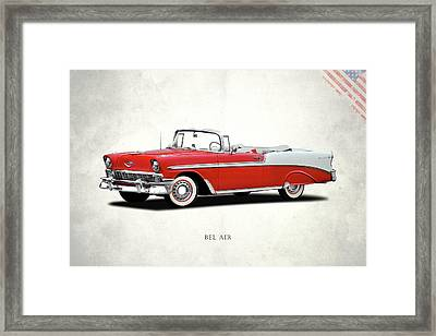 Chevrolet Bel Air 1956 Framed Print