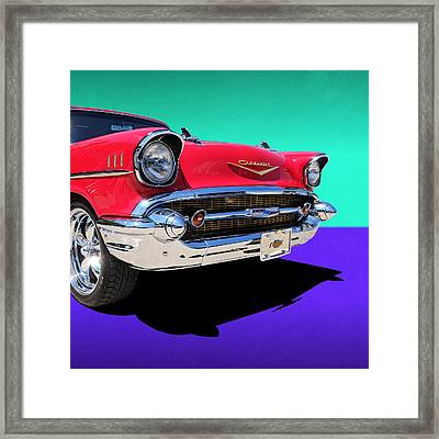 Chevrolet Bel Air Color Pop Framed Print