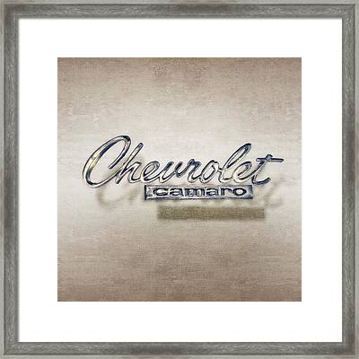 Chevrolet Camaro Badge Framed Print by YoPedro