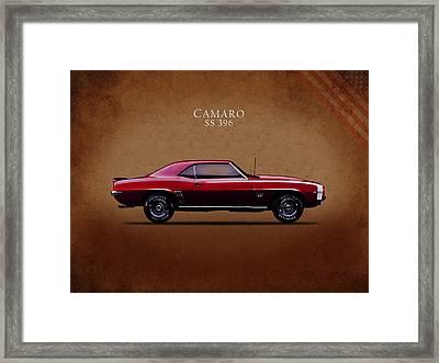 Chevrolet Camaro Ss 396 Framed Print by Mark Rogan