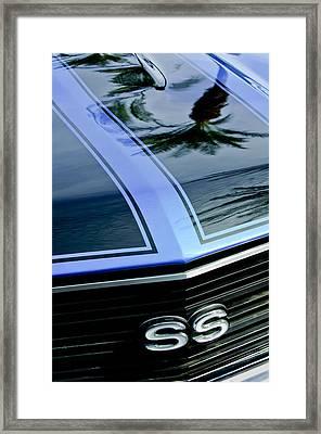 Chevrolet Chevelle Ss Grille Emblem 3 Framed Print by Jill Reger