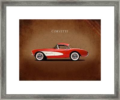 Chevrolet Corvette 1957 Framed Print by Mark Rogan