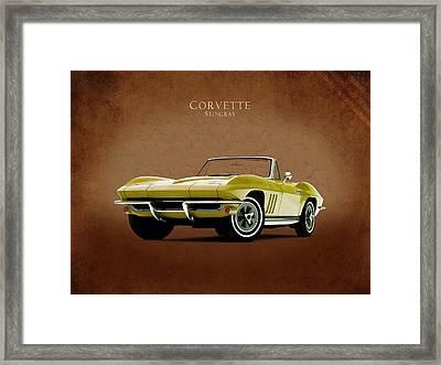 Chevrolet Corvette 1965 Framed Print by Mark Rogan