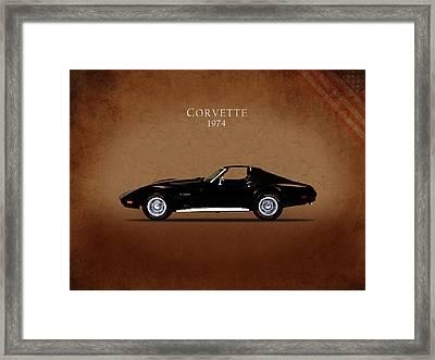 Chevrolet Corvette 1974 Framed Print by Mark Rogan