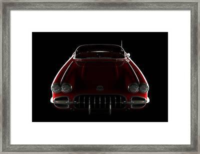Chevrolet Corvette C1 - Front View Framed Print