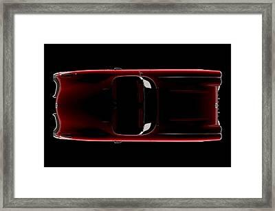 Chevrolet Corvette C1 - Top View Framed Print