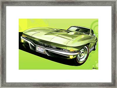 Chevrolet Corvette C2 Sting Ray Framed Print by Uli Gonzalez
