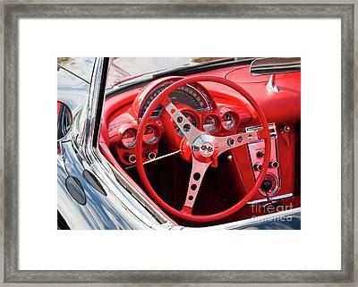 Framed Print featuring the photograph Chevrolet Corvette Dash by Chris Dutton