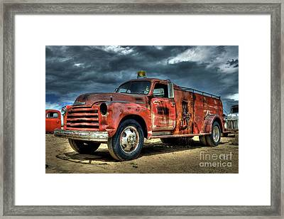 Chevrolet Fire Truck Framed Print