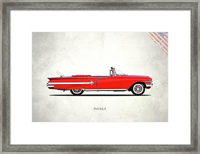 Chevrolet Impala 1960 Framed Print by Mark Rogan