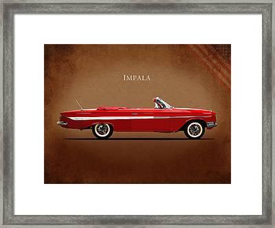 Chevrolet Impala Ss 409 Framed Print by Mark Rogan