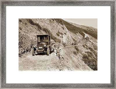 Chevrolet Truck On Highway One Big Sur  California 1926 Framed Print