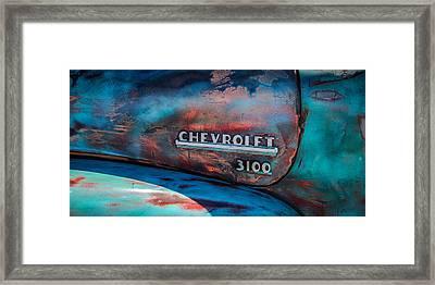 Chevrolet Truck Side Emblem -0842c2 Framed Print