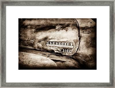 Chevrolet Truck Side Emblem -0842s1 Framed Print