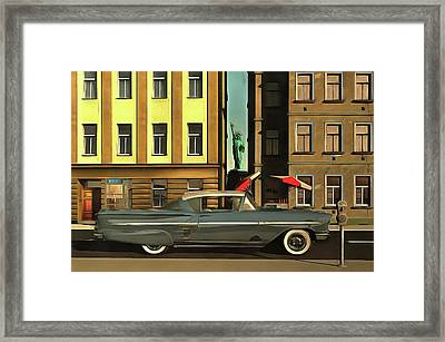 Chevrolette Impala At The Big Apple Framed Print