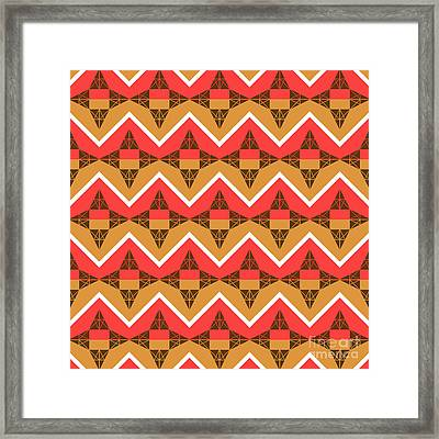 Chevron And Triangles Framed Print